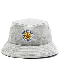 hot sale online a2809 8b7bb Mitchell   Ness Mens Golden State Warriors Gray Fleece Bucket Hat - NBA  Fishing Cap (