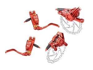 Kcnc x7 paire de freins rouge disque 160/160mm pm/is
