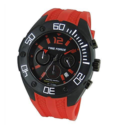 TIME FORCE Reloj Cronógrafo para Hombre de Cuarzo con Correa en Caucho TF-4145M14