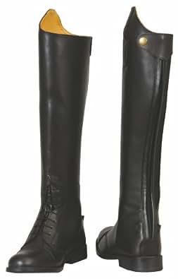 TuffRider Women's Baroque Field Short Boots, Black, 85 Slim