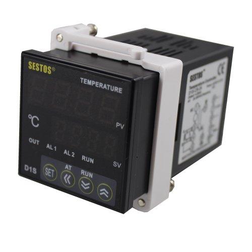 Sestos digitale PID temperatura controllo corrente e uscita a relè 100-240V intelligente termostato calibrazione D1S-CR-220con PT100Sensore di temperatura termocoppia