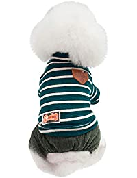 Ropa para Mascotas,Gusspower algodón Abrigos Caliente Mascotas Perros suéter Rayas Ropa