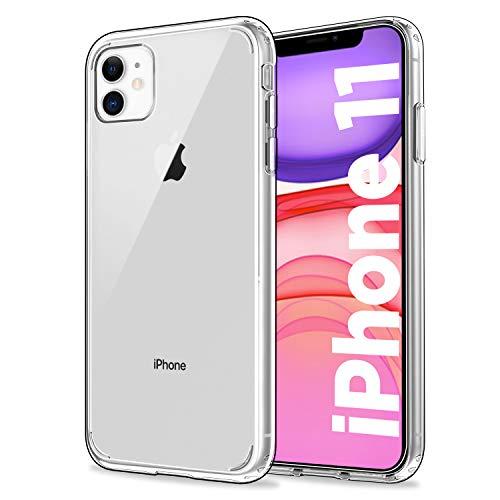 EasyAcc Hülle für iPhone 11, Transparent Schmale Crystal Clear Handyhülle Hart PC am Rücken + Weicher TPU Rahmen [Anti-Vergilben] Schutzhülle Kompatibel mit iPhone 11 6.1''