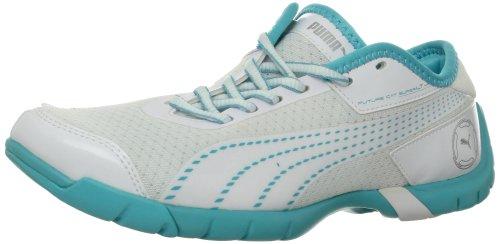 Puma - - Damen-Schuhe Future Cat Superlt White-Blue Curacoa