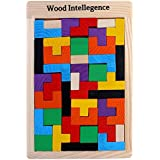 Wooden Jigsaw Puzzle (40 Pieces)   Wood Intelligence Game   Tangram Brain Teaser   STEM Toys Kids 2+ Years