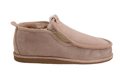 Hommes Luxe Peau De Mouton Pantoufles Chaussons Chaussures Avec Doublure Chaud Laine