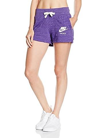 Nike Damen Gym Vintage Shorts, Purple (H47Court Purple/Sail), S