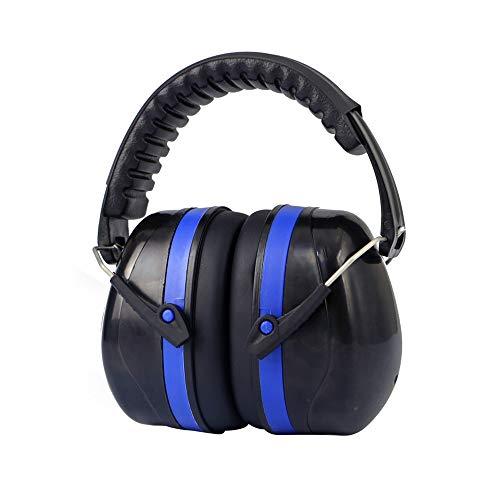 Schalldichte Ohrenschützer Ohrenschützer, passt Erwachsene und Kinder, 35dB SNR Bequeme Sicherheits-Ohrenschützer-Gehörschutz mit Folding-Padded Kopfband für Schießen, Bau, Lesen oder Yard Work Lärmmi