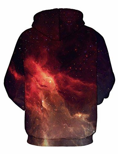 KamiraCoco 3D Druck Kapuzenpullover Herren Cartoon Sweatshirt Weihnachten Langarm Top Shirt Herbst Winter Drawstring Hoodie Pullover mit Kapuze Feuerwolken