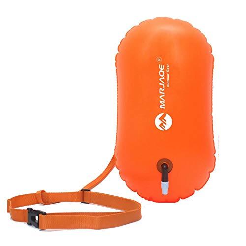 Energystation Wasserdicht Schwimmbag Schwimmbag Offenes Wasser Schwimmflut und sichtbarer Float für Schwimmer, Triathleten und Schnorchler - Orange -