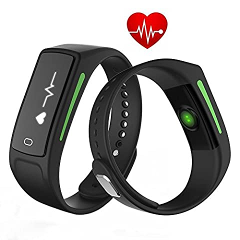 DXable V6 Smart Activity Fitness Tracker - Real-time Heart Rate Monitor Smart Watch IP68 Waterproof Wristband 30 days Standby Time - Support Heart Rate Monitor / Sleep Monitor / Notifications Remind / Blood Pressure for Android IOS Smartphones