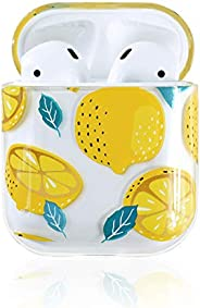 Ownest Compatible with AirPods Case with Girls Cute Clear Smooth PC Shockproof No Dust Cover Case for Apple Ai