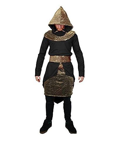 Erwachsene Assassin Prince Kapuzenmantel Fancy Kleid Mittelalter Krieger Kostüm