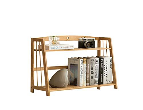 AJLYDT LYX® Regal, Desktop-Bücherregal-Speicher-Regal-einfaches Vollenden-Gestell auf dem Tisch Bambus-kreativer Studenten-Multifunktions-Bambus-kleines Bücherregal (Size : Two 70cm) -