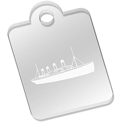 Azeeda 49mm 'Titanic Ship' Engraved Keyring (AK00043801)