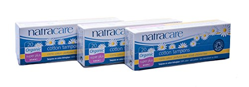 Natracare Tampons Super Plus, 3er Pack (3 x 20 Tampons) - Super Tampons