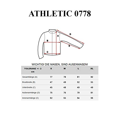 BOLF – Sweat-shirt – Manches longues – U-neck – Longsleeve – Homme [1A1] Noir-Rouge