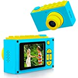 "ShinePick Cámara Digital para Niños,Zoom Digital de 4X / 8MP / 2"" TFT LCD de la Pantalla Mini Cámara con Tarjeta de Memoria (Azul)"
