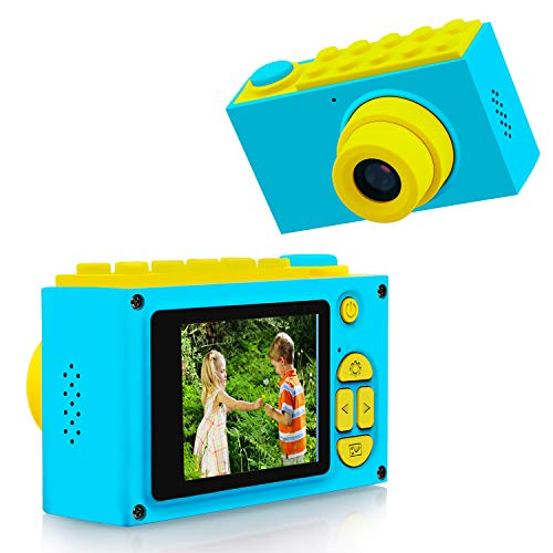 ShinePick Cámara Digital para Niños,Zoom Digital de 4X / 8MP / 2' TFT LCD de la Pantalla Mini Cámara con Tarjeta de Memoria (Azul)