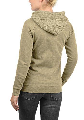 DESIRES Matilda Damen Sweatjacke Kapuzen-Jacke ZIp-Hoodie aus hochwertiger Baumwollmischung, Größe:XXL, Farbe:Dune Melange (8409) - 3