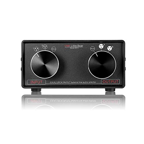 Nobsound, preamplificatore passivo XLR per commutare l\'audio in RCA, Little Bear, modello: MC3, convertitore stereo 3 ingressi e 3 uscite bilanciate XLR e RCA