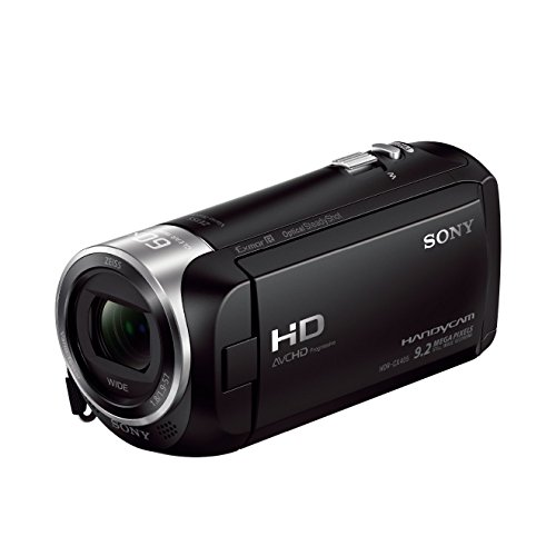 Sony HDR-CX405 Full HD Camcorder (30-Fach Opt. Zoom, 60x Klarbild-Zoom, Weitwinkel mit 26,8 mm, Optical Steady Shot) mit Intelligent Active Mode Verwacklungsarme Aufnahmen schwarz (Video Camera Sony Handycam)