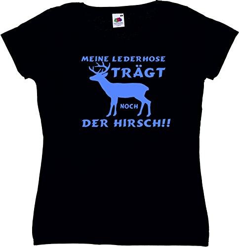 T-Shirt Oktoberfest Wiesn München Junggesellenabschied für Frauen Männer und Kinder in allen Größen XS bis 4XL oder Kinder 104 bis 164 Motiv Nr.64 Damen-Schwarz