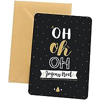 Carte de noël - Oh oh oh Joyeux Noël | Carte cadeau, Carte de voeux