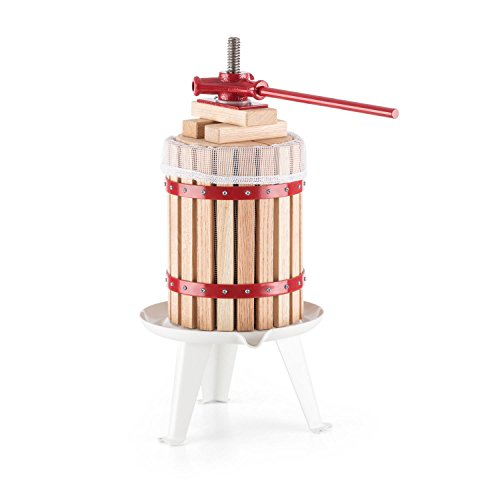 oneconcept-berrymore-presse-agrumes-mecanique-pour-jus-de-fruits-frais-cuve-de-6l-metal-et-bois