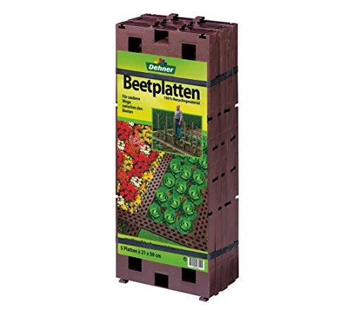 Dehner Beetplatten für den Garten, steckbar, 5 Stück, je ca. 50 x 21 cm