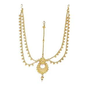 Zaveri Pearls Rajasthani Traditional Design Maangtika For Women - ZPFK5619