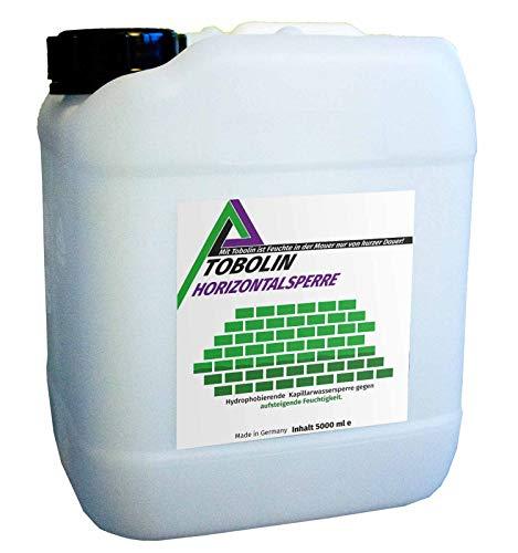 Nachfüllkanister (5 L) für Tobolin Horizontalsperre Injektionsflaschen - Verkieselungsmittel zur Mauerwerkstrockenlegung und Wasserschadensanierung - hocheffektiv gegen aufsteigende Feuchtigkeit