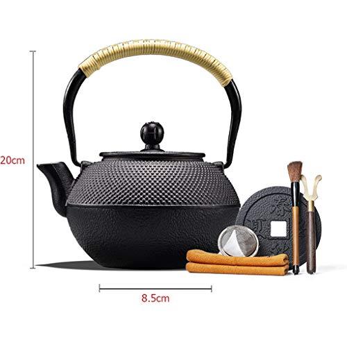 VAIY Teekanne Handgemachte Gusseisen Teekanne Tee Startseite Wasserkocher Teekocher Elektrische Keramik Herd Set (Color : A)