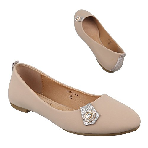 Ital-Design - Scarpe chiuse Donna Beige (beige)
