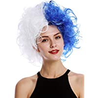 WIG ME UP ® - 91344-PC3+P60 Peluca Halloween Mujeres Hombres Diva Malvada