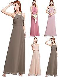 bfcd1f4076ad Ever-Pretty Vestiti de Sera Donna Damigella d Onore Lungo A-Line Chiffon