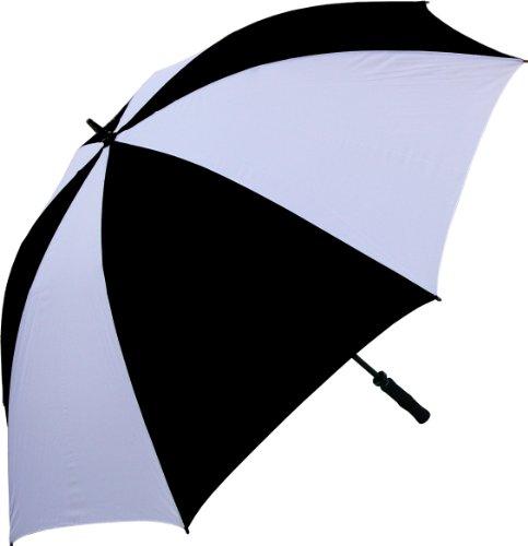 RainStoppers 68-inch Oversize Winddicht Golf Regenschirm, Schwarz/Weiß (Regenschirm, Golf Weiß Und Schwarz)