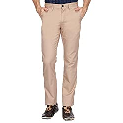 Allen Solly Mens Casual Trousers (8907587945514_AMTF517G03582_36W x 34L_Beige Solid)