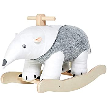 labebe Baby Rocking Horse Toddler Outdoor/&Indoor Toy Rocker Mammoth with Swings Baby Riding Horse Plush Animal Rocker Chair Wooden Plush Rocker Toy