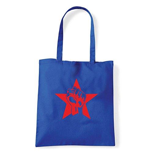 Art T-shirt, Borsa Shoulder pugno-rosso Blu