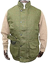 Hunter Chaleco de Tweed Outdoor Shooting, Verde Oscuro, Medium