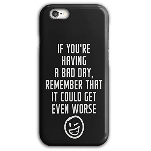 Optimistisch Sprichwort Komisch Winky Smiley Schwarz 3D iPhone 6 Plus / 6S Plus Fall | Wellcoda