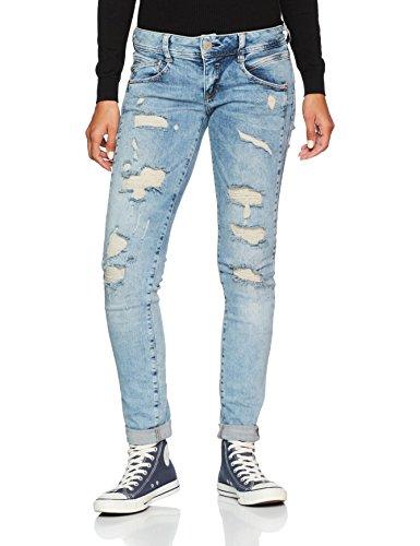 Herrlicher Damen Jeans Gila Slim, Blau (Crease Destroy 706), W29/L32 (Herstellergröße: 29) (Keil Niedrige Womens)