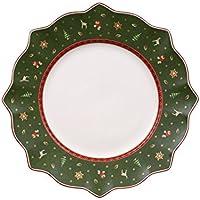 Villeroy & Boch Toy's Delight Assiette plate verte, 29 cm, Porcelaine Premium