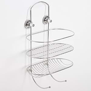 TecTake Etagère douche en acier inoxydable salle de bains accessoires