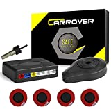 Car Rover® Parcheggio auto sensori del sistema Bibi segnale acustico con 16.5mm UFO a forma di 4 universali Originale sensori(Nero)