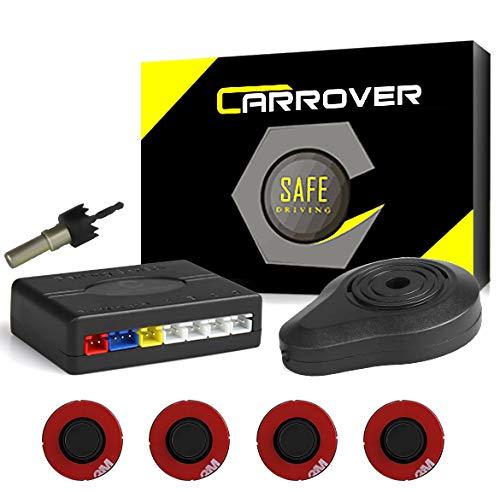 Car rover parcheggio auto sensori del sistema bibi segnale acustico con 16.5mm ufo a forma di 4 universali originale sensori(nero)