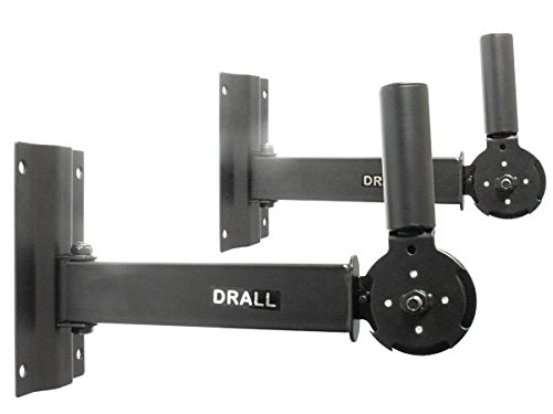 2 x Wandhalter für DJ PA Boxen Lautsprecher Box Stativ Flansch Halterung (2 Stück) Modell: BS13x2