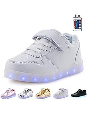 Kealux Glänzend Nacht USB Aufladen 7 Farben Schnüren Aufhellen LED Schuhe Niedrige Oberseite Sport Sneaker Mit...