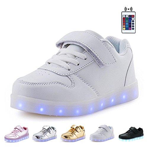 KEALUX-Brillante-Noche-USB-Cargando-7-Colores-ATA-Para-Arriba-Encender-LED-Zapatos-Baja-Arriba-Zapatillas-Deportivas-con-Control-Remoto-Por-Nios-Chicos-Chicas